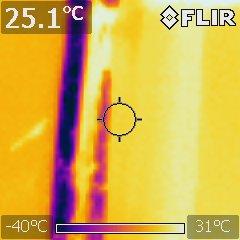 откриване на течове с термална камера
